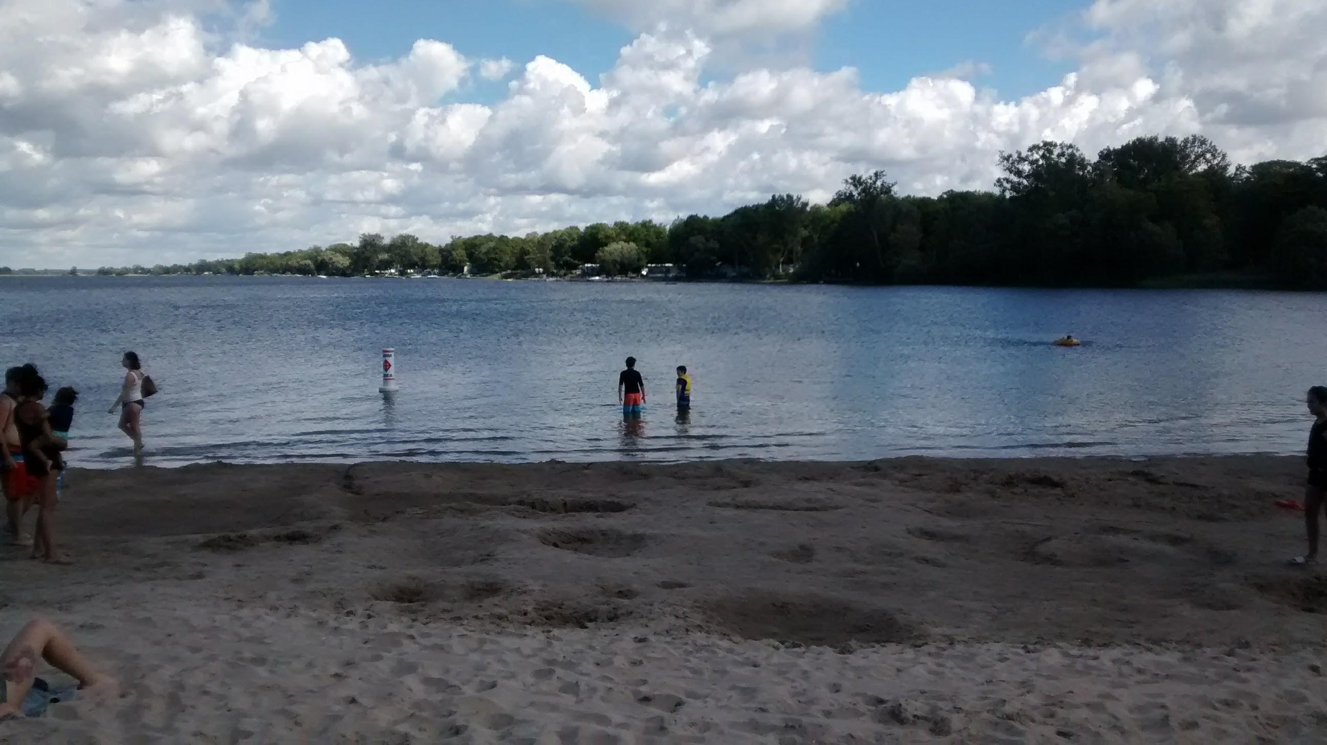 Kids testing the water
