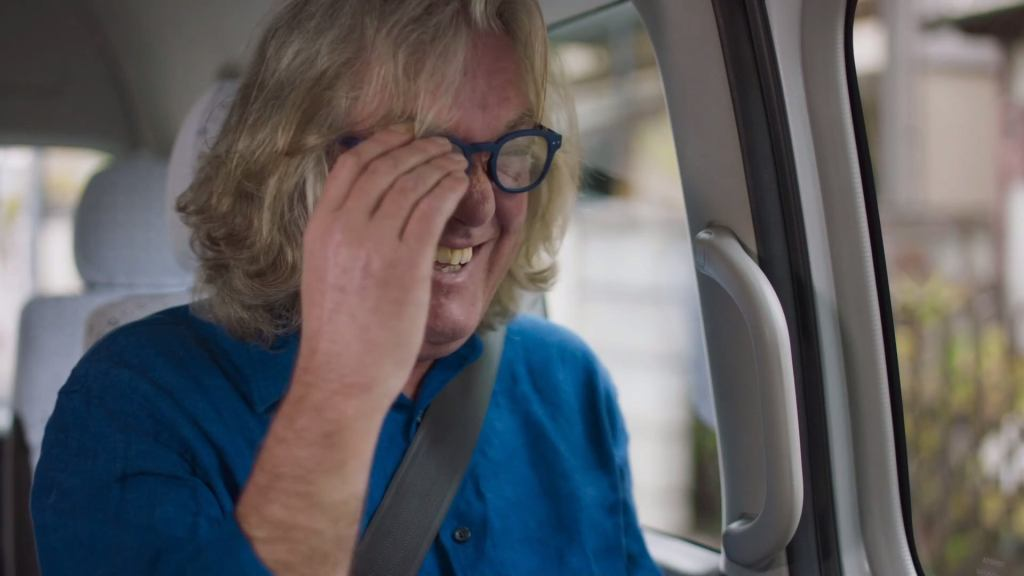 James May's scrunched up face when laughing